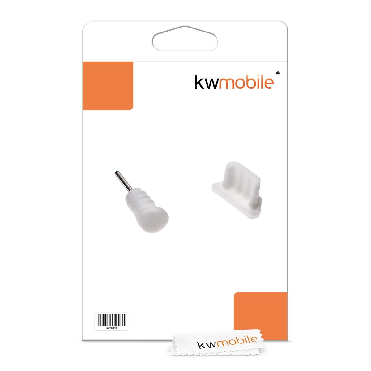 Noir Cuigu 5Pcs Bouchons Anti-poussi/ère pourT/él/éphones Portables Port de Chargement USB de Typ C Coque de Protection en Silicone pour T/él/éphones intelligents