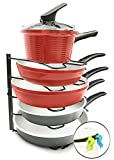Amazing Stuff's Frying Pan & Pot Lid Organizer Rack Holder - Cabinet & ...