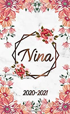 Nina 2020-2021: Nifty Rose Floral 2 Year Monthly Pocket ...