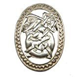 Sterling Silver Scandinavian Norse Traditional Gunnar the Lute Player Pendant/Pin