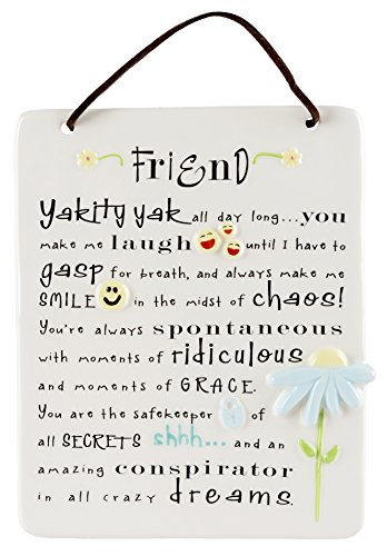 White Photo Plaque - Grasslands Road Plaques Be Happy - Friend