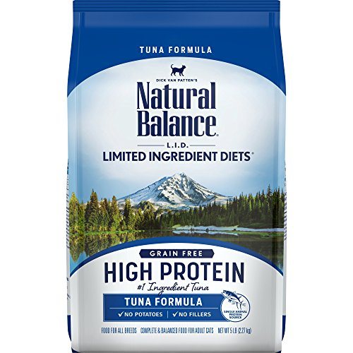 Natural Balance L.I.D. Limited Ingredient Diets High Protein Dry Cat Food For Adult Cats, Tuna Formula, 5-Pound (L/d Diet)