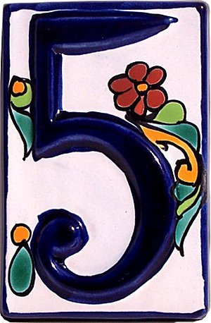 Fine Crafts Imports Colonial Talavera Ceramic House Number Five
