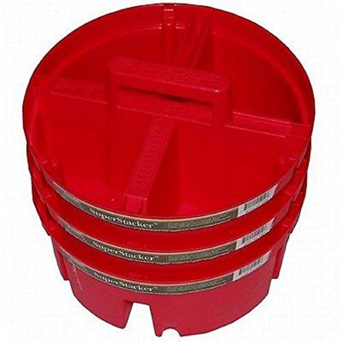 Set of 3 Bucket Boss Extra Deep Superstacker Bucket Stacker Kit - 10.25