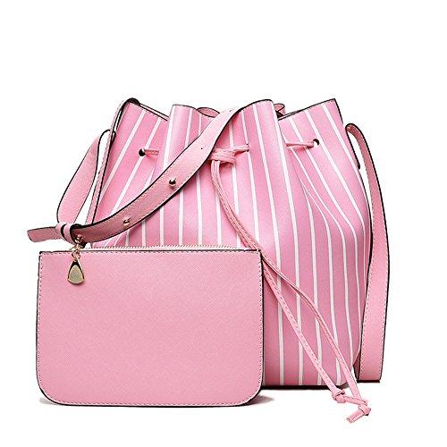 Bandoulière À New Meaeo Sac Bandoulière Sac Pink Rose Sac Stripe À Mode Bandoulière À XqPZ0X