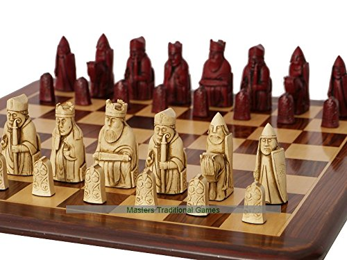Berkeley Isle of Lewis Chess Set (cream and red) (Chess Red Set)