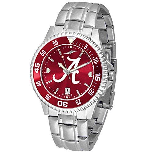 Alabama Crimson Tide Competitor Steel AnoChrome Color Bezel Men's Watch Steel Anochrome Watch