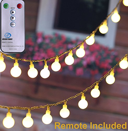 [Remote & Timer] 33ft Outdoor Globe String Lights LED Fairy - Import It All