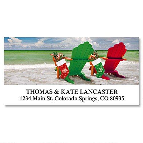Holiday Adirondack Self-Adhesive, Flat-Sheet Deluxe Address Labels