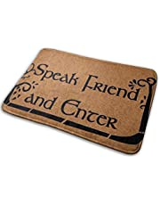 Speak Friend and Enter Comfortable Indoor/Outdoor Entrance Mat Doormat Non-Slip Backing Bedroom Floor Carpet Bathroom Kitchen Rug Soft Yoga Pet Pad 50x80 cm