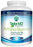 AminoRestore - Amino Acid Formula Rx - Chocolate Flavor - Essential Workout, Weight Loss – Provides Nutrients, Vitamins, Minerals – Optimise Metabolism, Energy, Body Composition & Gut Health – Suitable for Vegetarians & Dairy Free - Guaranteed By Ta