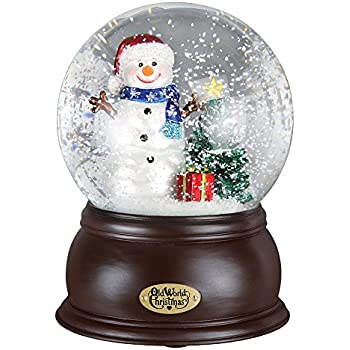 Mercks Old World Happy Snowman Snow Globe 54002