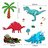tinkerbell tree house - Dinosaur Wall Decals, Decorative Dino Stickers for Boys & Girls, Peel and Stick Colorful Wall Art Mural for Bedroom, Baby Nursery, Bathroom, Playroom, Removable Vinyl Home Decor, __ Small & Large Pcs.