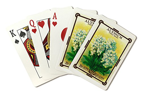 Alyssum Seed Packet (Playing Card Deck - 52 Card Poker Size with Jokers)