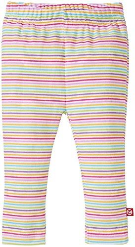 Zutano Baby Girls' Rainbow Candy Stripe Skinny Legging, Multi, 6 Months