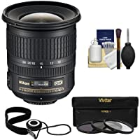 Nikon 10-24mm f/3.5-4.5 G DX AF-S ED Zoom-Nikkor Lens with 3 UV/ND8/CPL Filters + Kit for D3200, D3300, D5300, D5500, D7100, D7200 Cameras
