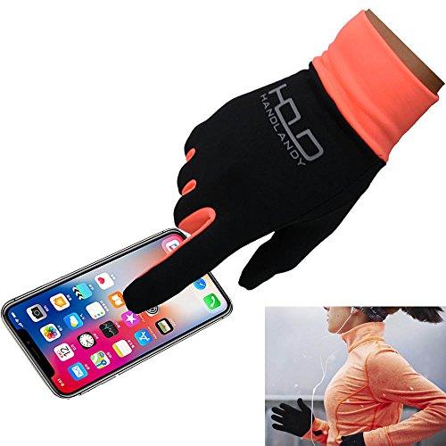 Handlandy Lightweight Running Gloves, Touchscreen Jogging Gloves for Women & Men