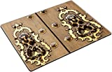 MSD Place Mat Non-Slip Natural Rubber Desk Pads design 35897043 Seville Spain Old door detail made of wood 200 years old