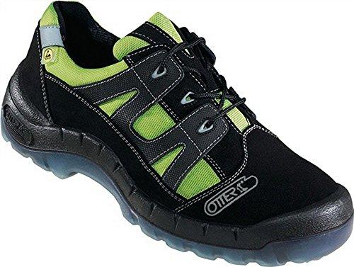 Sicherheitsschuh eN20345 s2 taille 43 no 93721-524 daim textile noir/vert