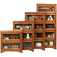 Eagle Oak Ridge 5 Door Lawyer Bookcase, 32 Wide, Medium Oak Finish