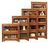 Eagle Oak Ridge 5 Door Lawyer Bookcase, 32″ Wide, Medium Oak Finish