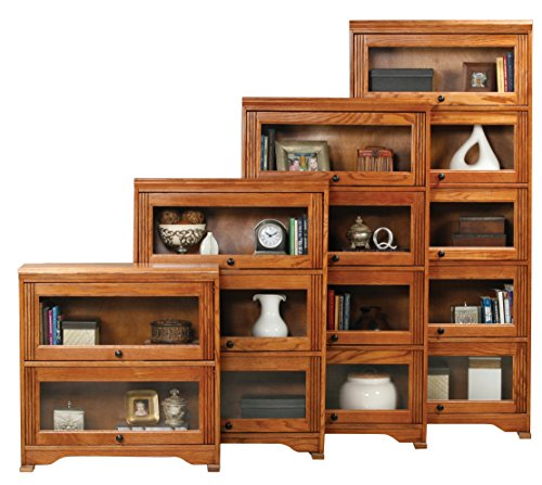 "Eagle Oak Ridge 5 Door Lawyer Bookcase, 32"" Wide, Medium Oak Finish"