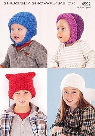 Amazon Sirdar Baby Childrens Hats Snowflake Knitting Pattern