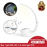Led Lamp with Bluetooth Speaker, Nillkin [Phantom II] 2-in-1 Removable Bedsides LED Lamp with Wireless Bluetooth 4.0 Speaker,Portable night table lamp with Smart Touch Brightness Control - White