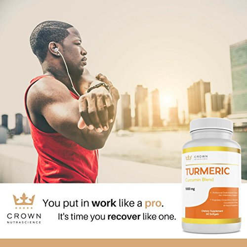 Turmeric Curcumin 1000mg, 60 Softgels, Crown NutraScience - 380mg Turmeric Extracts (Curcuminoid Powder) per Single Softgel, Emulsified for Maximum Absorption, Premium Joint Support & Pain Relief by Crown NutraScience (Image #7)