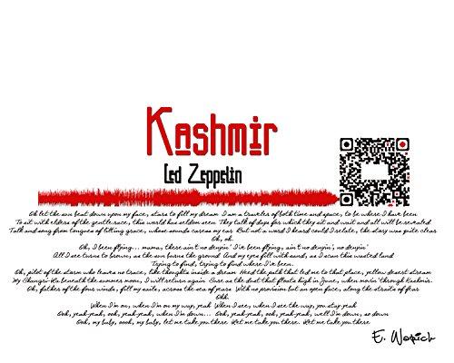 Kashmir - Sound wave art piece, sound wave, qr code art, Led