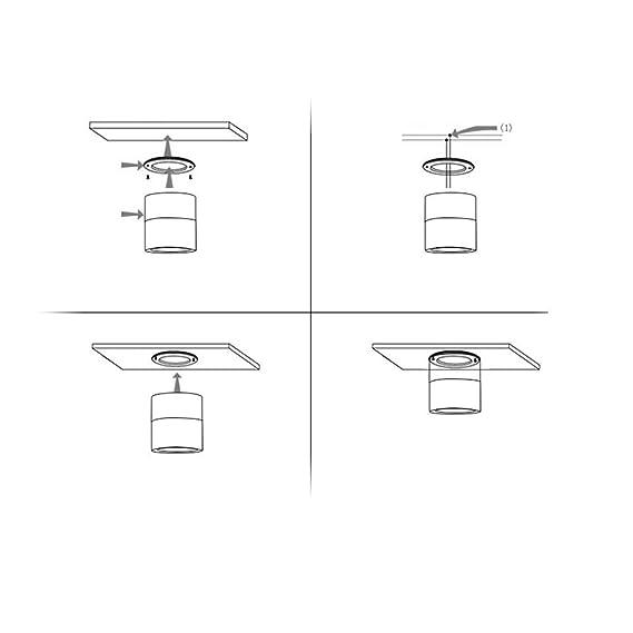 Pared pivotante Spot Spotlight Spotlight Spot Spot Lámpara de techo Focos orientables Foco de haz Foco ajustable/Diseño moderno LED Foco de techo redondo ...