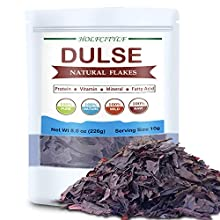 Holfcitylf Natural Large Dulse Flakes, 100% Pure Dulse Pieces Sea Vegetables, Sun Dried, No GMO (Dulse Pieces-8oz)