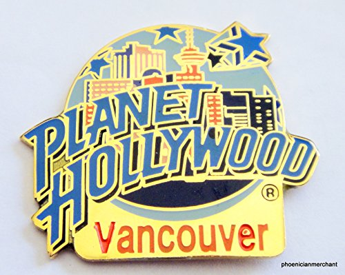 Planet Hollywood Vancouver Canada City Skyline Pin