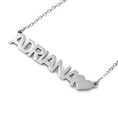 Collar con nombre adriana de acero inoxidable aptas níquel ...