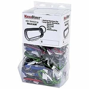 Maxam GFCRB100 Maxam 100 Piezas colores surtidos aluminio Maxabiner Clips