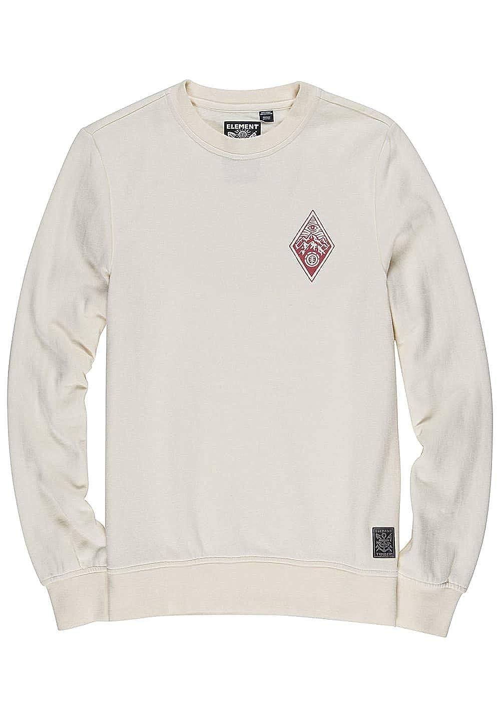 Element Timber Herren Eye Sweatshirt Pullover Bone Weiß S