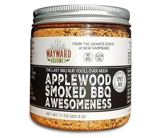 Applewood Smoked BBQ Awesomeness - Rub & BBQ Seasoning by Wayward Gourmet - Best BBQ Grill Seasoning Rub - Made for Chicken, BBQ Meat, Hamburgers, Pulled Pork, Ribs, Steaks - Dry Rub Spice Blend