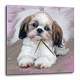 3dRose LLC dpp_4807_3 Wall Clock, 15 by 15-Inch, Shih Tzu Puppy For Sale