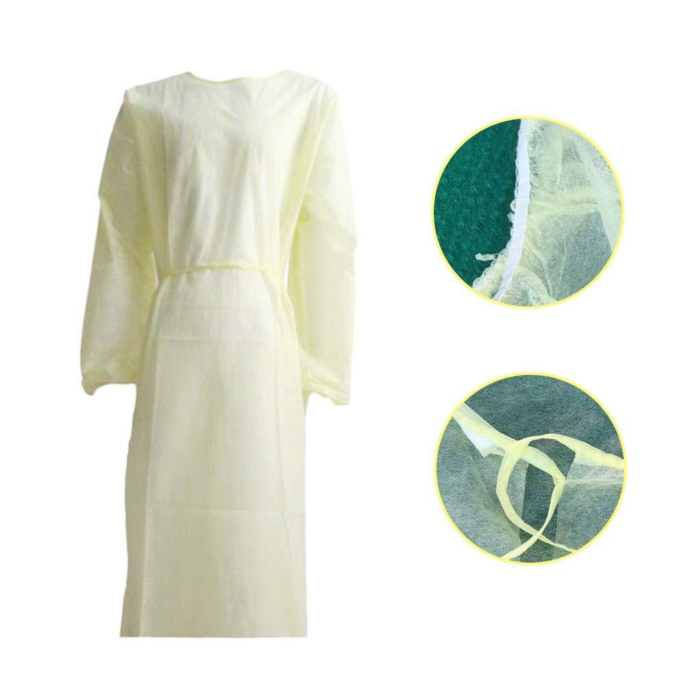 Abbigliamento da Lavoro di Sicurezza Indumenti Protettivi Isolanti in Tessuto Non Tessuto Camici Monouso Unisex 10 pezzi Indumento di Protezione Monouso Anti-Inquinamento Siamese