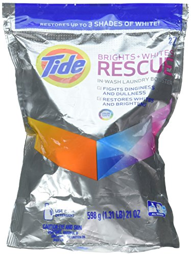 Tide Brights and Whites Rescue In-Wash Laundry Booster, 18 Count (Pack of 2 Brights)
