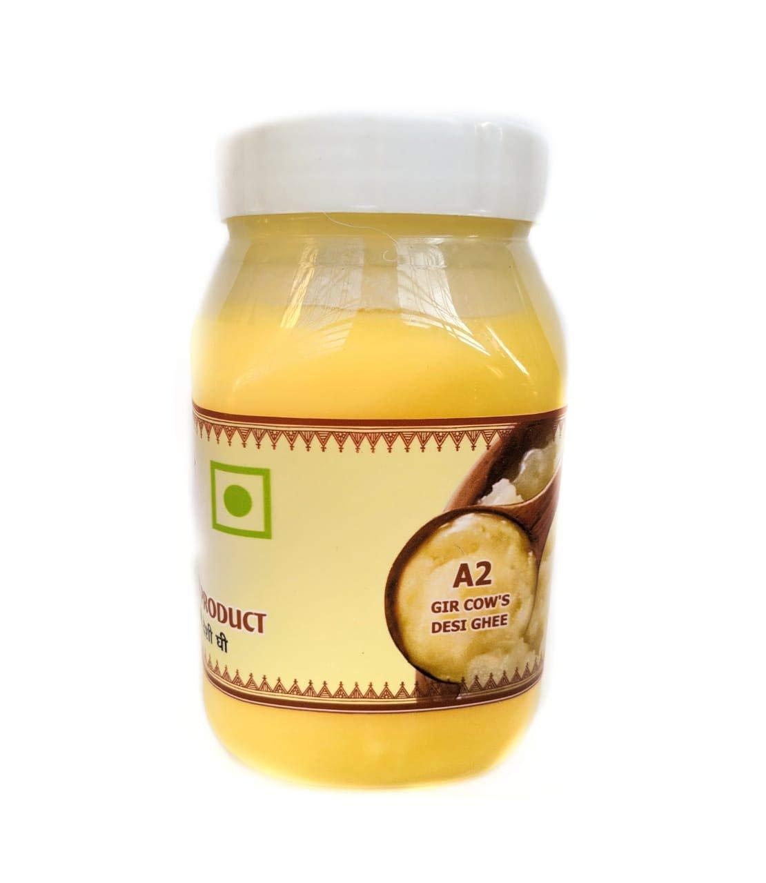 Organic A2 Indian Gir Breed Cow 's Vedic Bilona Ghee - 1000 ml (33.81 OZ) By Shree Charbhuja