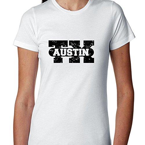 Hollywood Thread Austin, Texas TX Classic City State Sign Women's Cotton T-Shirt]()