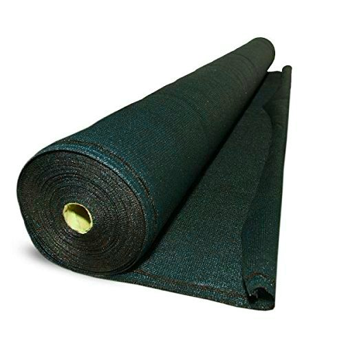 GREEN VISTA DELUXE 6x20 FEET MULTI USE NET / NETTING 60% GREEN SHADE CLOTH AND VISUAL BLOCK for Patios, Gardens, Greenhouses, Ponds and More by Green Vista Water Gardens