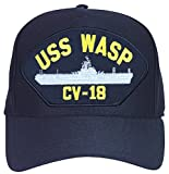 Armed Forces Depot USS Wasp CV-18 Cap. Navy Blue. Made In USA