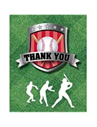Baseball Party Thank You Cards Team Sports 8 Per Pack BOBEBE Online Baby Store From New York to Miami and Los Angeles