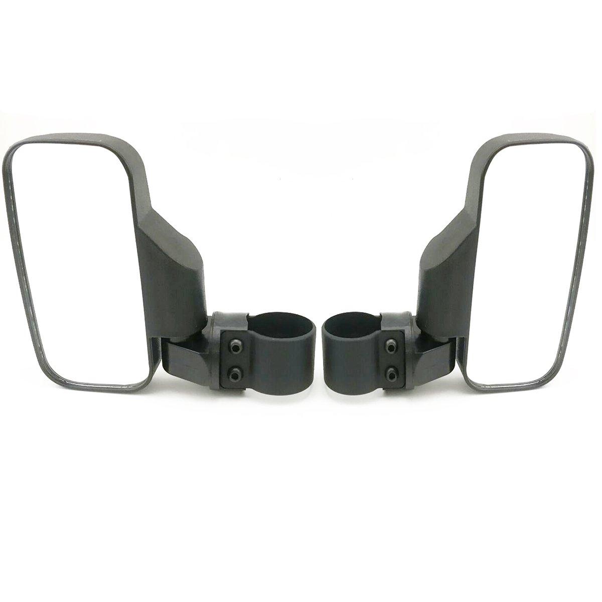 OKSTNO UTV Side View Mirror for 1.5'' - 2'' Roll Cage Tempered Glass Breakaway Mirrors for Polaris Ranger RZR, Can Am Commander, Maverick, Gator, Rhino