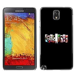 Caucho caso de Shell duro de la cubierta de accesorios de protección BY RAYDREAMMM - Samsung Note 3 N9000 - Equipo de juego