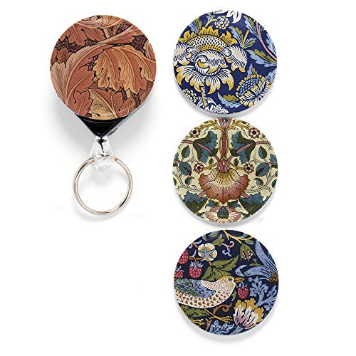 Buttonsmith William Morris 2 Tinker Reel Retractable Badge Reel - with Belt Clip and 24 inch Standard Duty Cord - Made in The USA ()