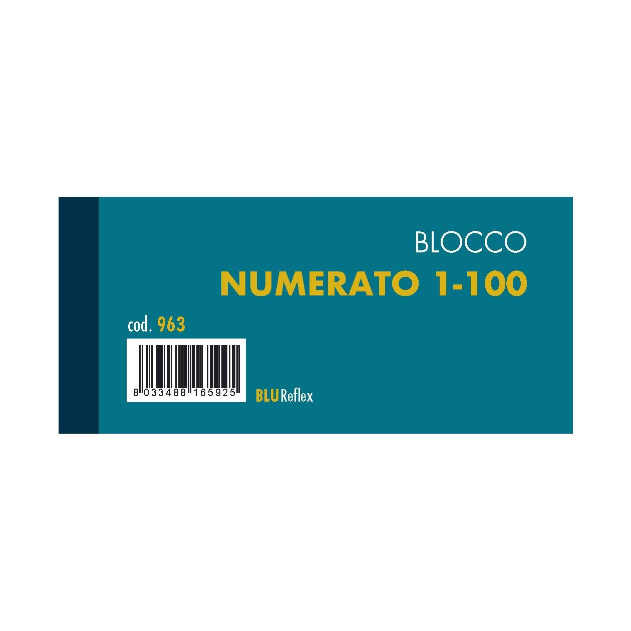 confezione 10 pz BLOCCO SCONTRINO NUMERATO 1-100