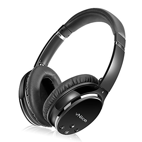 Active Noise Cancelling Headphones, Hi-Fi Deep Bass Wireless Bluetooth Headphones Foldable Over Ear Stereo Sound Headset with Microphone Playtime for Travel Work TV PC Iphone